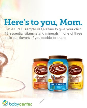 FREE Two Ovaltine Sample Packs from Baby Center