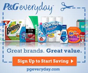 FREE P&G Samples Savings Coupon Pack