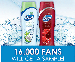 Free DIAL AntiOxidant & Coconut Water Body Wash Sample Pack