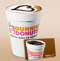 Free Medium Beverage at Dunkin Donuts