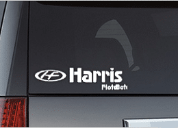 Free Harris FloteBote Vinyl Decal Samples