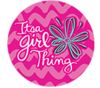 Free It's A Girl Thing Sticker Samples