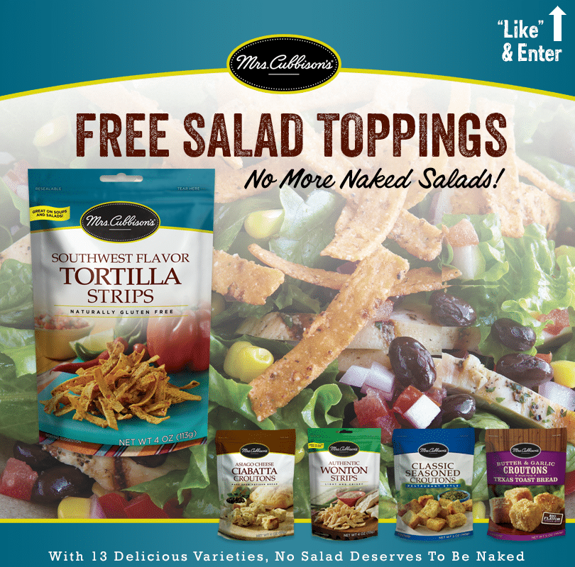 Free Mrs. Cubbison's Salad Toppings Samples