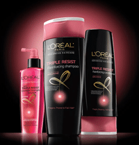 Free L'Oreal Paris Advanced Haircare Triple Resist Samples
