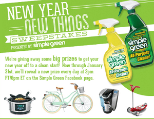 Free Simple Green New Year, New Things Giveaway