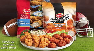 Free Tyson Any'tizers BIG GAME Sweepstakes Giveaway