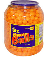 Free Utz Snacks Giant Barrel Of Cheese Balls Samples