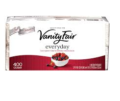 Save $1.00 off when you buy any 2 Vanity Fair Napkins or Hand Towel