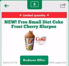 Free Diet Coke Frost Cherry Slurpee at 7-Eleven