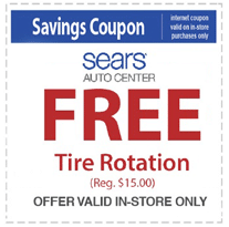 Free Tire Rotation at Sears Auto Center ($15 Value)