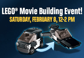 Free Emmet's Car from The LEGO Movie at Toys R Us on 2/8