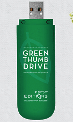 Free First Editions Green Thumb Usb Drive