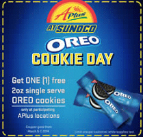 Free Single Serve OREO Cookies at Sunoco Stores