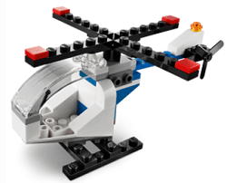 Free LEGO Helicopter Mini Model Build at LEGO Stores on 4/1