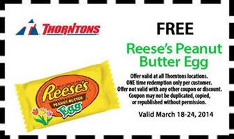 Free Reese's Peanut Butter Egg at Thorntons