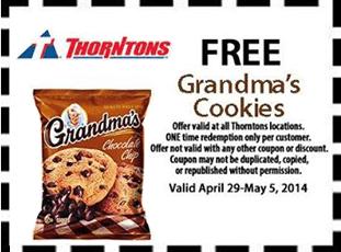 Free Grandma's Cookies at Thorntons