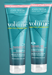 Free John Frieda Luxurious Volume Shampoo and Conditioner Sample
