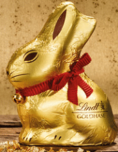 Free Lindt Chocolate Gold Bunny at Lindt Chocolate Shops Today