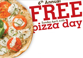 Free Margherita Thin Crust Pizza at Stevi B's on 4/27