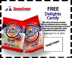 Free Delights Bagged Candy at Thorntons
