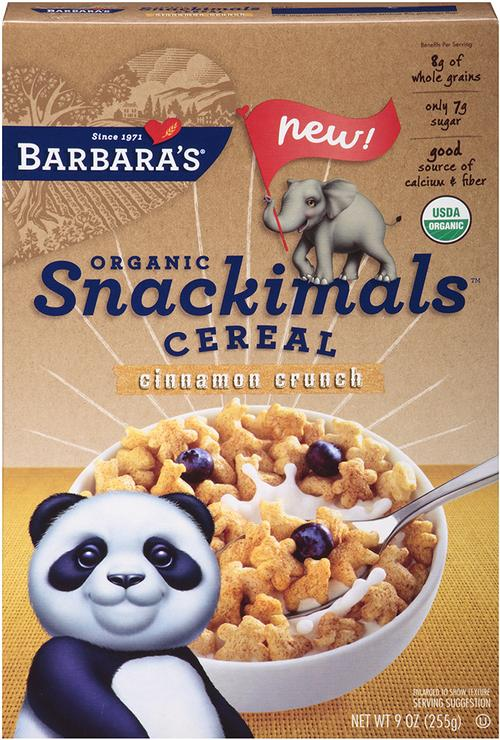Save $1.50 off on one (1) Barbara's Snackimal Cereal