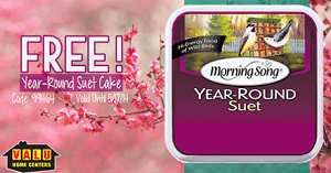 Free Morning Song Bird Food Suet Cake at Valu Home Centers