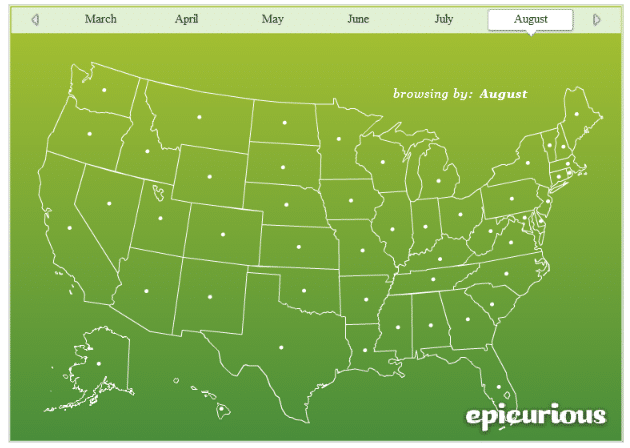 seasonal produce map
