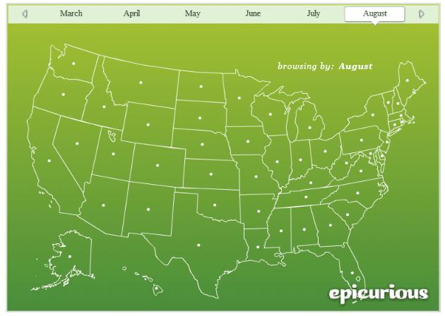 seasonal produce map