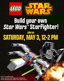 Free LEGO Star Wars Mini TIE Fighter and Mini X-Wing at Toys R Us on 5/3