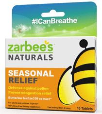 Free ZarBee's Naturals Seasonal Relief Sample