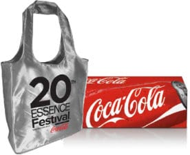 Use Coca Cola Beverages Codes for Free Essence Tote