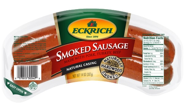 Save $1.00 off on any (1) ECKRICH Smoked Sausage