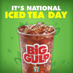 Free Freshly Brewed Big Gulp Iced Tea at 7-Eleven