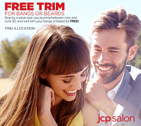 Free Trim for Bangs or Beards at JCPenney Salons