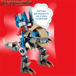 Free Kre-O Optimus Prime Riding Grimlock Figure Build at Today
