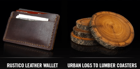 Free Leather Wallet or Lumber Coasters From Copenhagen