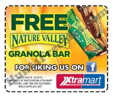 Free Nature Valley Granola Bar at Xtra Mart