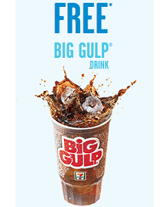 Free Big Gulp Drink at 7-Eleven Today