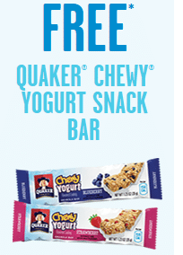Free Quaker Chewy Yogurt Snack Bar at 7-Eleven Today