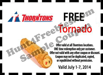 Free Tornado at Thorntons Stores