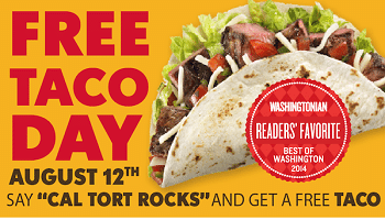 Free Taco at California Tortilla Today
