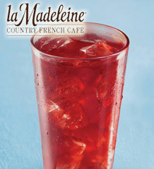 Free Iced Tea at la Madeleine Country French Cafe Today