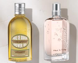 Free L'OCCITANE Cherry Blossom EDT or Almond Shower Oil