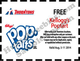 Free Poptart at Thorntons Stores