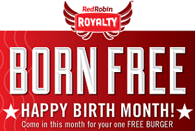 Free Burger During Your Birthday Month at Red Robin