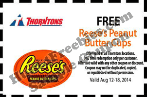 Free Reese's Peanut Butter Cups at Thorntons