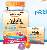 Free Sundown Natural Adult Multi Gummy Sample Packet