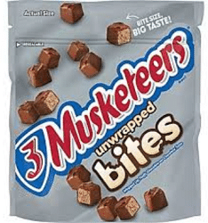 Free 3 Musketeers Bites Stand Up Bag at Kroger