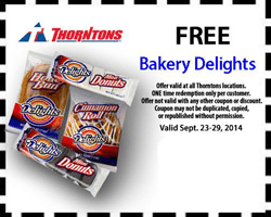 Free Bakery Delights at Thorntons Stores