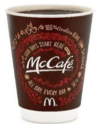 Free McCafé Coffee at McDonald's on 9/16-9/29